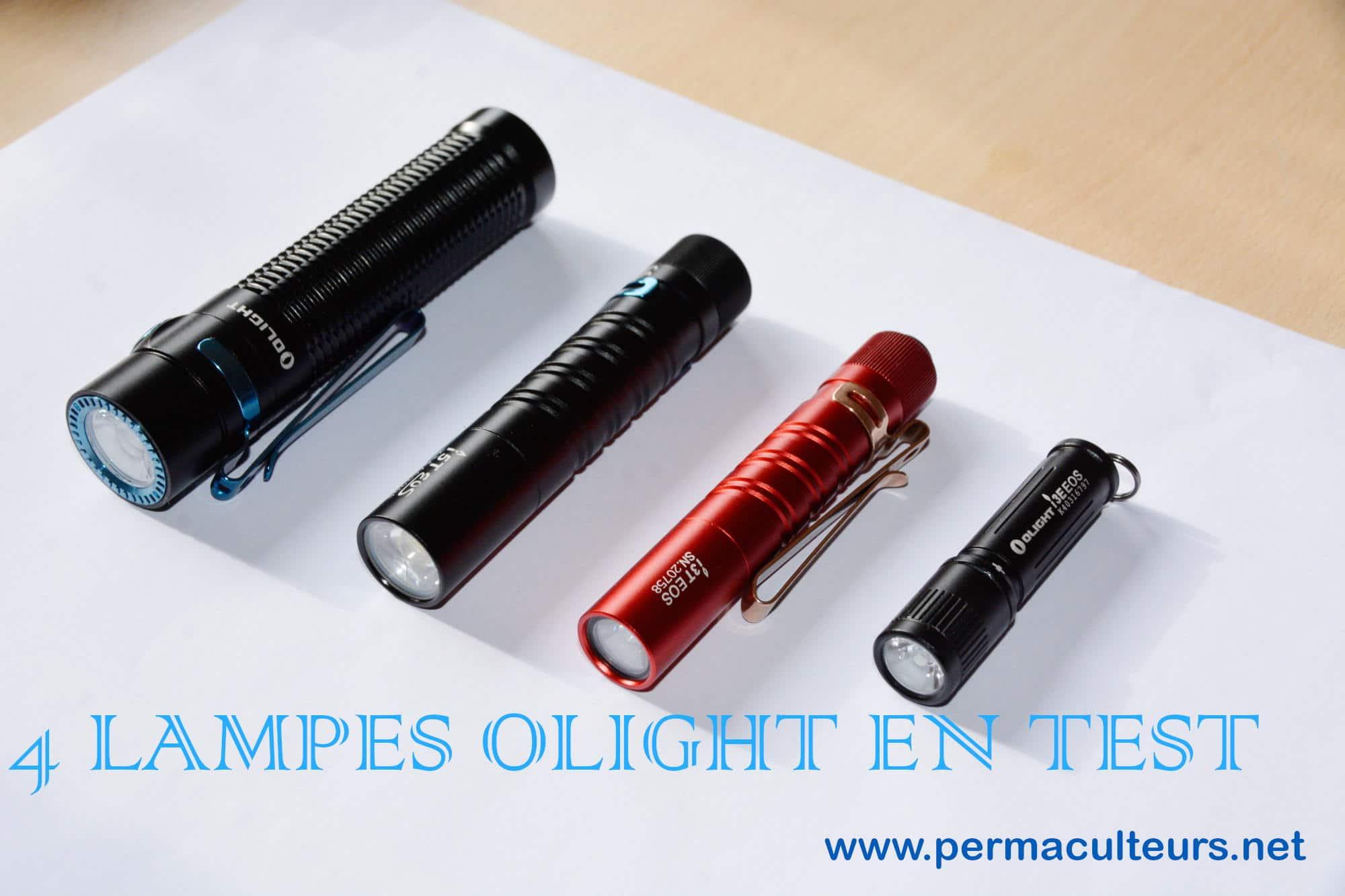 4 lampes en test